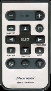 PIONEER CD-R30 [AUTO] пульт ДУ для автомагнитол автомобильных TV/DVD систем - магазин Remote - Фото 1