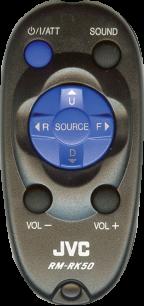 JVC RM-RK50 [AUTO] пульт ДУ для автомагнитол автомобильных TV/DVD систем - магазин Remote - Фото 1