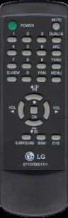 LG 6710V00017H [TV] пульт ДУ  для телевизора - магазин Remote - Фото 1