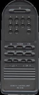 AKAI/ONWA RC-51A [TV] пульт ДУ  для телевизора - магазин Remote - Фото 1