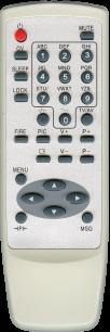 BRAVIS  RC-15D / SHIVAKI RC-15D (корп JVC 364) [TV] пульт ДУ  для телевизора - магазин Remote - Фото 1