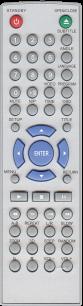 AKIRA GLD-04-01 [DVD] пульт ДУ для DVD, Blu-ray, DVD систем и домашних кинотеатров - магазин Remote - Фото 1