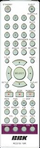 BBK RC019-19R [DVD] пульт ДУ для DVD, Blu-ray, DVD систем и домашних кинотеатров - магазин Remote - Фото 1