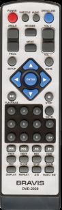 BRAVIS DVD-2020 [DVD] пульт ДУ для DVD, Blu-ray, DVD систем и домашних кинотеатров - магазин Remote - Фото 1