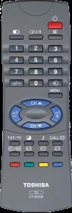 TOSHIBA CT-90229 [TV] пульт ДУ  для телевизора - магазин Remote - Фото 1