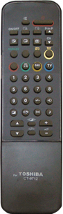 TOSHIBA CT-9712 [TV] пульт ДУ  для телевизора - магазин Remote - Фото 1
