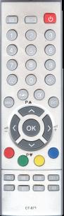 TOSHIBA CT-871 [TV] пульт ДУ  для телевизора - магазин Remote - Фото 1