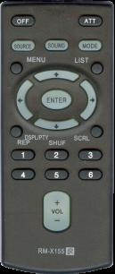 SONY RM-X155 [AUTO] пульт ДУ для автомагнитол автомобильных TV/DVD систем - магазин Remote - Фото 1