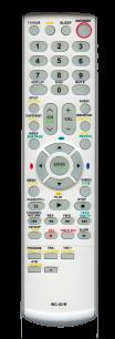 TOSHIBA WC-G1R [TV+DVD+VHS] пульт ДУ  для телевизора - магазин Remote - Фото 1