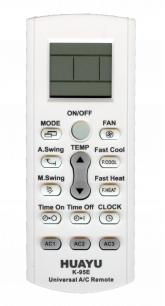 HUAYU A/C K-95E [UNIVERSAL for Conditioner] пульт ДУ для кондиционеров - магазин Remote - Фото 1