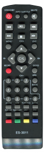 EUROSKY T2 ES-3011 / ES3015 / ES11 [DVB-T2] пульт ДУ Т2 тюнера - магазин Remote - Фото 1