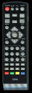 ROMSAT T2 T2050 /  T2050  /  T2070 / T2 mini [DVB-T2] пульт ДУ Т2 тюнера - магазин Remote - Фото 1