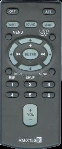 SONY RM-X153 [AUTO] пульт ДУ для автомагнитол автомобильных TV/DVD систем - магазин Remote - Фото 1