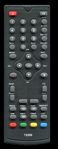 SKYVISION T2 T2206 [DVB-T2] пульт ДУ Т2 тюнера - магазин Remote - Фото 1