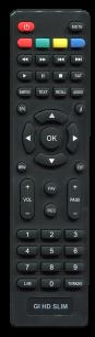 Galaxy Innovations Gi HD SLIM [SAT] неоригинальный пульт ДУ для спутниковых и кабельных тюнеров - магазин Remote - Фото 1