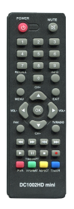D-COLOR DC1002 HD [DVB-T2] пульт ДУ Т2 тюнера - магазин Remote - Фото 1