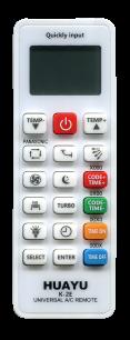 HUAYU A/C K-2E (5000 код.) [UNIVERSAL for Conditioner] пульт ДУ для кондиционеров - магазин Remote - Фото 1