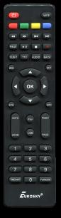 EUROSKY T2 ES-18 [DVB-T2] пульт ДУ Т2 тюнера - магазин Remote - Фото 1