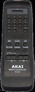 AKAI RC-51A [TV] пульт ДУ  для телевизора - магазин Remote - Фото 1
