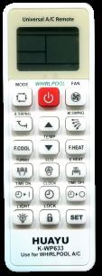 HUAYU WHIRLPOOL K-WP633  универсальный [UNIVERSAL for Conditioner] оригинальный пульт ДУ для кондиционеров - магазин Remote - Фото 1