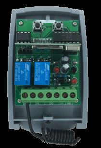 Приемник внешний REC-2V.1 Professional  433MHz [RF UNIVERSAL] для управления автоматикой ворот и шлагбаумами любых производителей для ворот и шлагбаумов - магазин Remote - Фото 1