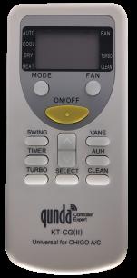 QUNDA KT-CG(  ) for CHIGO универсальный программируемый [UNIVERSAL for Conditioner] пульт ДУ для кондиционеров - магазин Remote - Фото 1